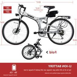 "26"" 20"" 36V 250W Aluminum Folding Electric Mountain Bike Bic"