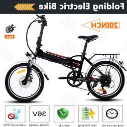 "26""20"" Folding Electric Bike City Mountain Cycling EBike 36V"