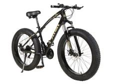 """26"""" 21 Speed 4.0 Fat Tire Mountain Bike Snow Bicycle Grass S"""