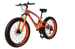 "26"" 21 Speed 4.0 Fat Tire Bike Snow Grass Sand Dual Shock Su"