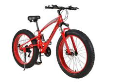 """26"""" 21 Speed 4.0 Fat Tire Bike Snow and Grass Sand Dual Shoc"""