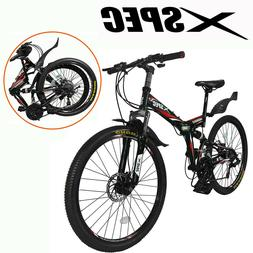 Xspec 26 21 Speed Folding Mountain Bike Bicycle Trail Commut