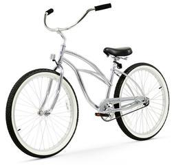 "26"" Beach Cruiser Bike Bicycle Firmstrong UrbanMen Chrome"