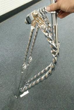 """26/"""" BENT SQUARE TWISTED SPRINGER FORK WING BARS,BEACH CRUISER BICYCLE,LOWRIDER"""