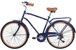 Gama Bikes 26 Men's City Azul Chic 6 Speed Shimano Hybrid Ur