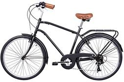 Gama Bikes 26 Men's City Negra 6 Speed Shimano Hybrid Urban