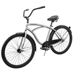 "Huffy 26"" Cranbrook Men's Beach Cruiser Comfort Bike, Silver"