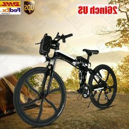 26'' EBike Electric Bike Mountain Bicycle Foldable Cycling C
