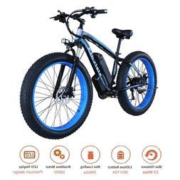 26inch Electric Fat Tire Bike Beach Snow Bicycle E-bike 36V
