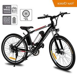 Aceshin 26'' Electric Mountain Bike with Removable Large Cap