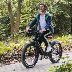 26'' Fat tire Electric Mountain Bicycle Ebike Lithium 350W L