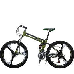 "26"" Folding Mountain Bike 21 Speed Bicycle Disc Brakes MTB F"
