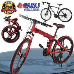 26'' Mountain Bike City Bicycle Cycling Full Suspension Fold