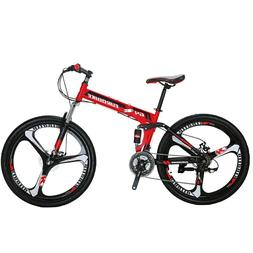 "G4 26"" Folding Mountain Bike Shimano 21 Speed Bicycle Full S"