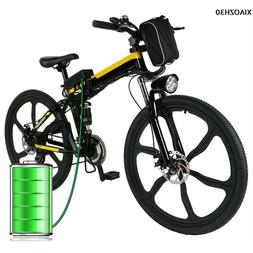 "26"" Full Suspension Mountain Electric Bike MTB Bicycles Dics"
