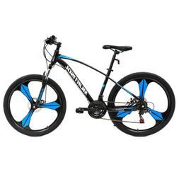 "26"" Full Wheel Mountain Bike Bicycle 21 Speeds Front Suspens"