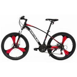 "26"" Full Wheel Mountain Bike Bicycle 21 Speeds Front Suspens"