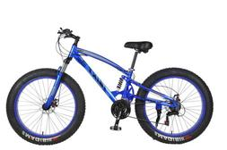 26 Inch 21 Speed 4.0 Fat Tire Bike Snow and Grass Sand Dual
