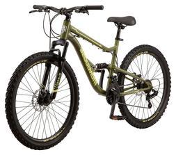 26-inch Mongoose Bash Suspension Mountain Bike, 21 speeds, G
