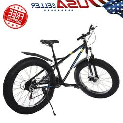 26-inch Fat Tire Mountain Bike 21-Speed Bicycle High-Tensile