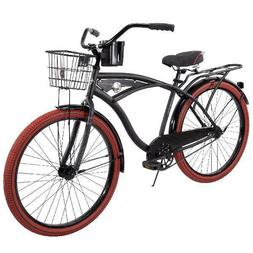 26 Inch Huffy Nel Lusso Vintage Men's Cruiser Bike Black Bea