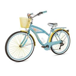 "BCA 26"" Margaritaville Multi-Speed Cruiser Women's Bike, Tea"