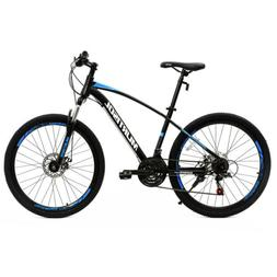 "26"" Mountain Bike Bicycle with Steel Frame 21 Speed Disc Bra"