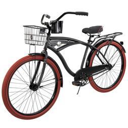 """26"""" Huffy Nel Lusso vintage Men's Cruiser Bike MATTE Black B"""