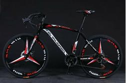"""26"""" Road Bike Shimano 21 Speed Cycling Bicycle Disc Brakes R"""