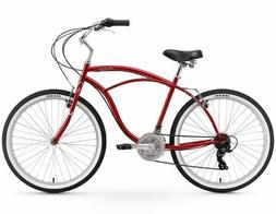 "26"" Urban Man 26"" 21 Speed Beach Cruiser Bicycle Red"