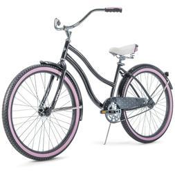 """HUFFY 26"""" WOMEN'S CRANBROOK CRUISER BIKE RARE Gray Purple"""