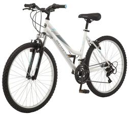 "26"" Women's Mountain Bike,White Color, Sports Bicycle Front"