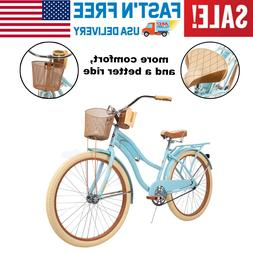 "Huffy 26"" Womens Cruiser Bike with Perfect Fit Frame, Beach"