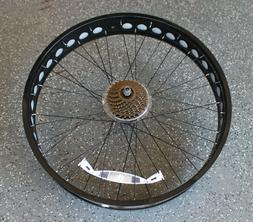 """26' x 4"""" Fat Bike REAR Wheel w/ 7sp Freewheel"""
