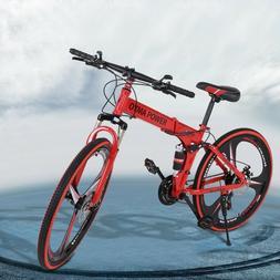 26in folding mountain bike shimanos 21 speed