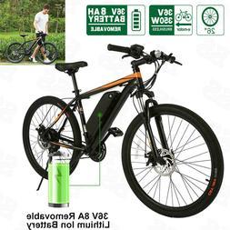 26Inch Electric Mountain Bike Fat Tire E Bike With 350W Brus