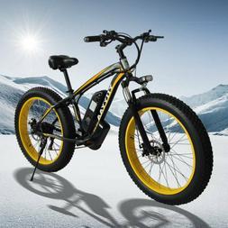 26inch Fat Tire Lithium Battery Electric Bike Beach Snow Bic