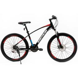 "27.5"" Front Suspension Bicycle Aluminum Mountain Bike 21 Spe"