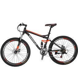 "27.5"" Full Suspension Mountain bike Mens Bikes Shimano 21"