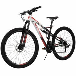 """Huffy 27.5"""" Full Suspension MTB with 21-Speed Shimano Gears"""