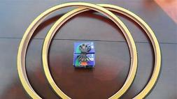 27x1 1/4 Bicycle Gumwall Tires&Tubes with liners for Road Bi