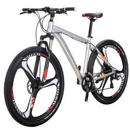 "29"" Aluminium Mountain Bike Disc Brakes Mens Bikes 21 Speed"