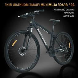 "29"" Aluminum Frame Men's Mountain Bike 21 Speed Shimano Bicy"