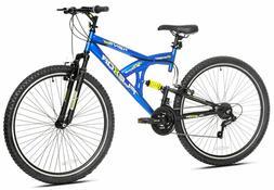"Kent 29"" Flexor Mens Dual Suspension Mountain Bike Blue Bl"