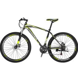 29er Mountain Bike 21 Speed Bicycle Mens Bikes Disc Brakes F