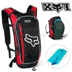 2L FOX Red Hydration Water Backpack Bag Pack Hiking Camping