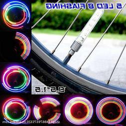 2pcs 5 LED Bike Bicycle Wheel Tire Valve Cap Spoke Neon Ligh