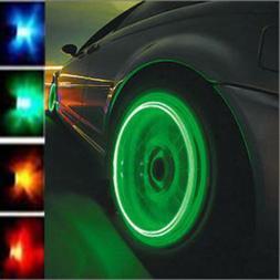 2PCS Bike Car Wheel Tire Tyre Valve Cap Spoke Neon LED Flash