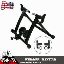 NEW Foldable Indoor Trainer Stand Magnetic Resistance Bicycl