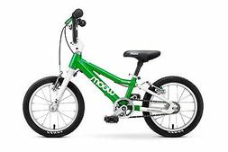"""woom 2 Pedal Bike 14"""", Ages 3 to 4.5 Years, Green"""